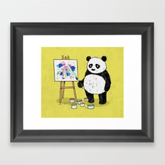 Panda Painter Framed Art Print