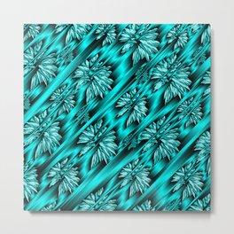 abstract pattern in metal Metal Print