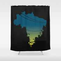 brazil Shower Curtains featuring Brazil by jenkydesign