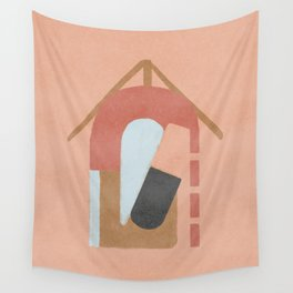 minimalist cabin - abstract and conceptual design Wall Tapestry