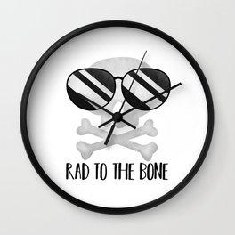 Rad To The Bone Wall Clock