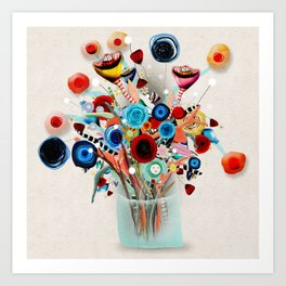 Rupydetequila Vase with flowers - Still Life Floral 2018 Art Print