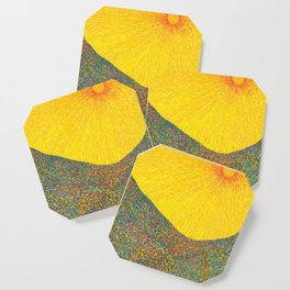 Here Comes the Sun - Van Gogh impressionist abstract Coaster