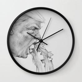 Trump Spew Wall Clock