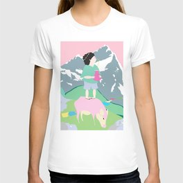The boy and the mountain pig T-shirt