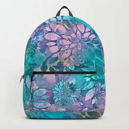 Painted Background Floral Pattern Backpack