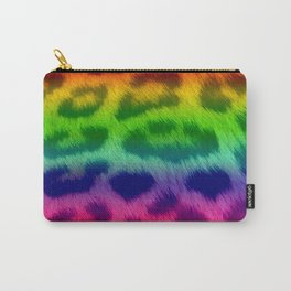 Rainbow Leopard Print Pattern Design Carry-All Pouch