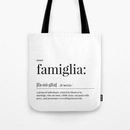 Famiglia Definition Tote Bag