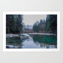 Zen Lake, British Columbia Art Print