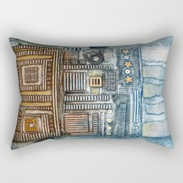 Cityscape Rectangular Pillow