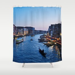 Venice at dusk - Il Gran Canale Shower Curtain
