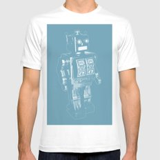 Automaton March Mens Fitted Tee White MEDIUM