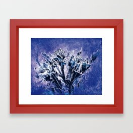 Thistle and Weeds_deep purple Framed Art Print