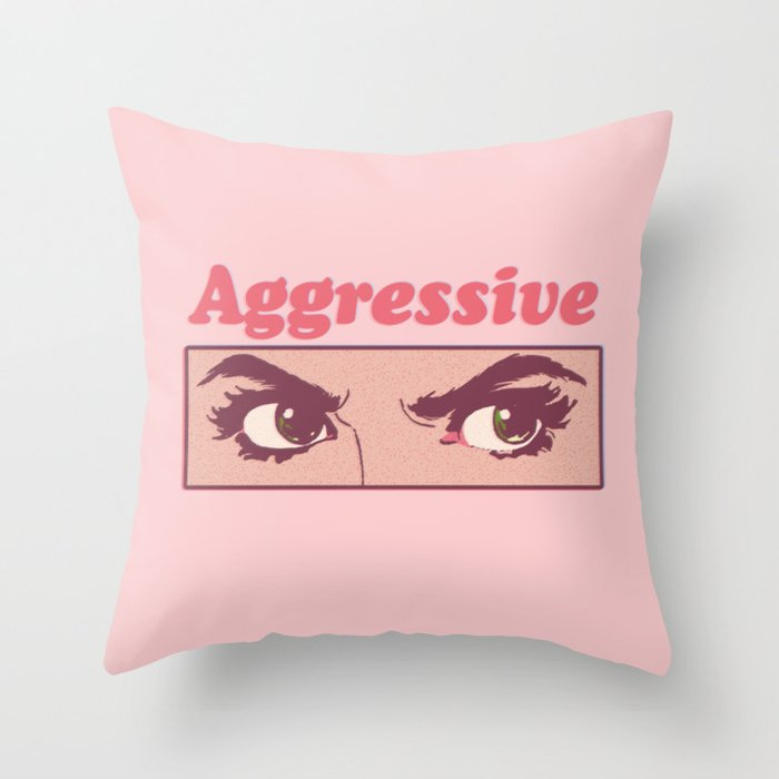 Aggressive Throw Pillow