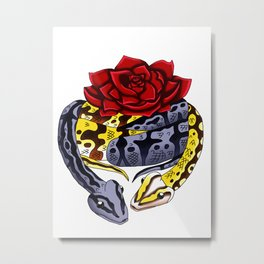 Snake Piece #34 - Ghosts of a Rose Metal Print