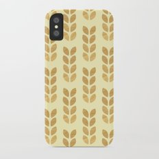Golden geometric knit inspired iPhone X Slim Case