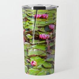 Lilies  flower pond Travel Mug