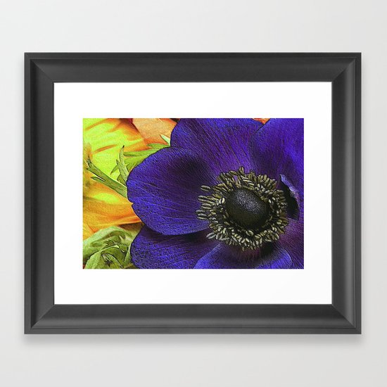 All of My Heart- Flower Power Anemone Framed Art Print