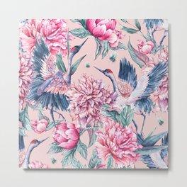 Pastel spring gardens Metal Print