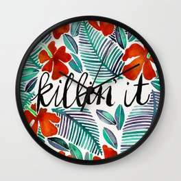 Killin' It – Tropical Red & Green Wall Clock