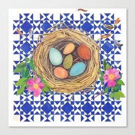 Quilt & Nest Canvas Print
