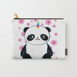 Pandacorn in a Field of Flowers Carry-All Pouch