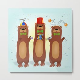 Otter Party And You Are Invited Metal Print