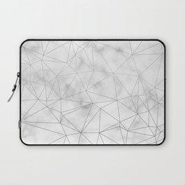 Marble Silver Geometric Texture Laptop Sleeve