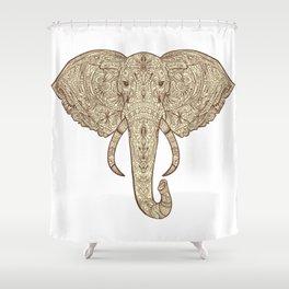 Elephant Mandala Shower Curtain