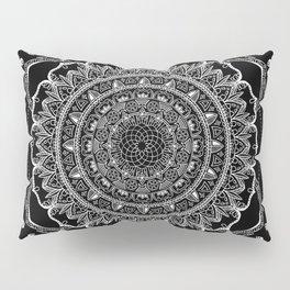 Black and White Geometric Mandala Pillow Sham