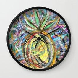 Miami Pineapple Wall Clock
