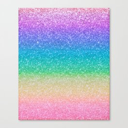 Rainbow Glitter Canvas Print