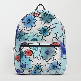 Fleur bleue Backpack