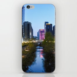 Stream at night iPhone Skin