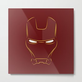 iron man face Metal Print