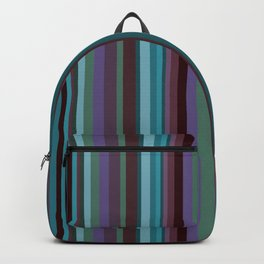 Retro Stripe in Blueberries and Orchids Backpack
