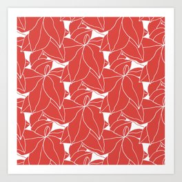 Floral in Red Art Print
