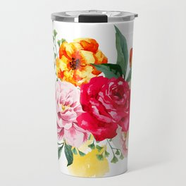 Watercolor Spring Flowers Travel Mug