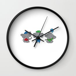 Dad Of The Birthday Boy Birthday Shirt For Those Whose Birthday Is Coming Near T-shirt Design Wall Clock