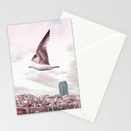 Seagull flying Stationery Cards