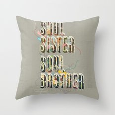 Soul Sister | Soul Brother - illustrations - Cover Throw Pillow