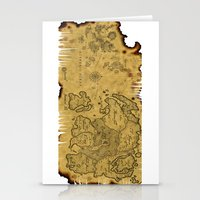 world maps Stationery Cards featuring Old Maps by tanduksapi