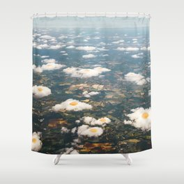 Eggy Clouds Shower Curtain