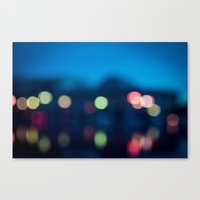 bokeh Canvas Prints featuring Bokeh by Ashley Hirst Photography