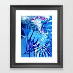Wave blue Framed Art Print