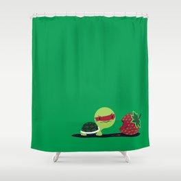 Strawberry Turtle Shower Curtain
