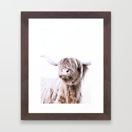 HIGHLAND CATTLE PORTRAIT Framed Art Print