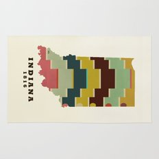 Indiana state map modern Rug