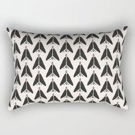 Bohemian Arrows - Dark gray and cream pattern Rectangular Pillow