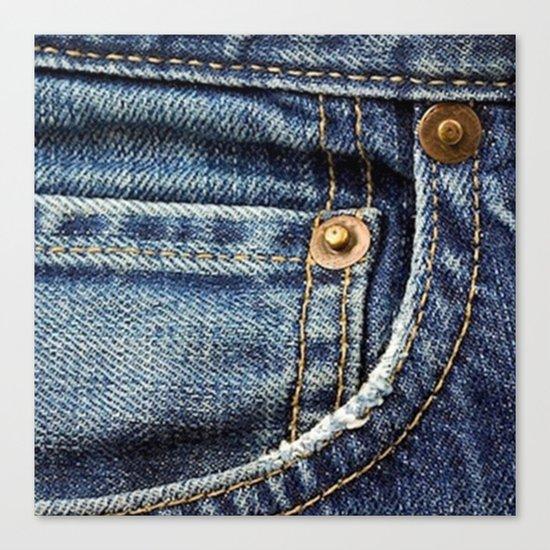 Texture #17 Jeans Canvas Print